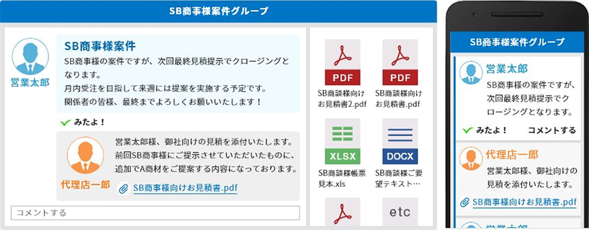 タイムライン(社内SNS・チャットツール)