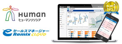 ヒューマンリソシア株式会社が営業支援システム(CRM/SFA)「eセールスマネージャーRemix Cloud」を導入